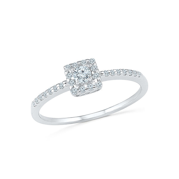 14kt / 18kt white and yellow gold Pristine Promise Diamond Engagement Ring in PRONG for women online