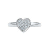 Heart Warmth Everyday Diamond Silver Ring