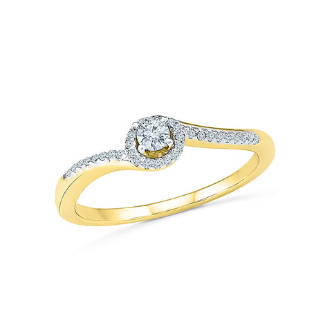 14k, 18k white and yellow gold Vision of Wow Diamond Engagement Ring in PRONG setting for women online