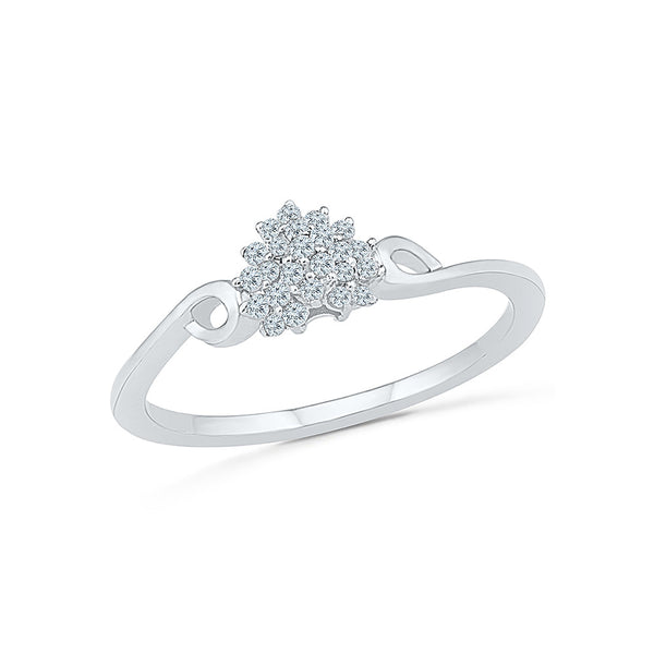 Floral Embosom Everyday Diamond Ring