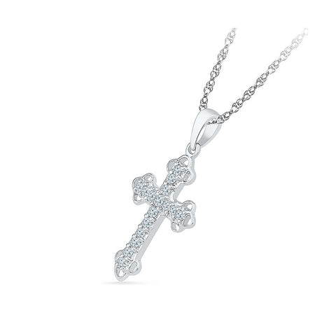 Bejeweled Cross Diamond Pendant