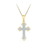 Bejeweled Cross Diamond Pendant - Radiant Bay