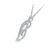 Artistic Leaf Diamond Pendant - Radiant Bay