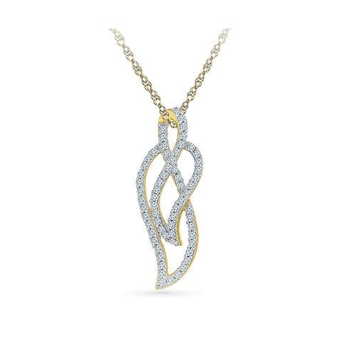 Artistic Leaf Diamond Pendant in 14k and 18k Gold online for women
