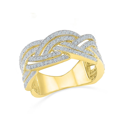 Fancy Knot Diamond Ring