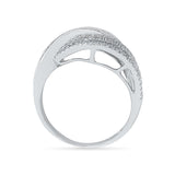 Decorus Swirl Diamond Cocktail Ring