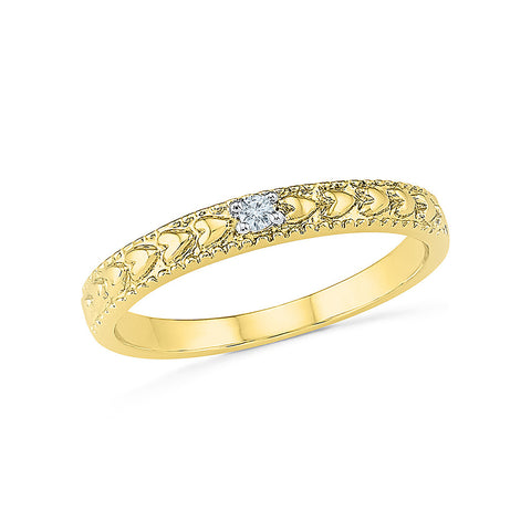 14k, 18k white and yellow gold Weave Diamond Band Ring in PRONG setting for women online