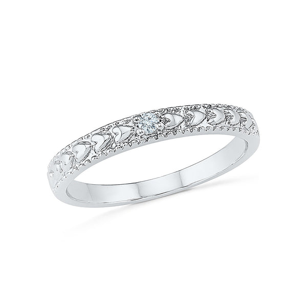 Weave Diamond Band Ring