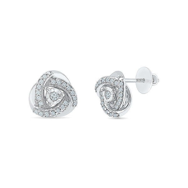 In Vogue Love Diamond Stud Earrings in 14k and 18k gold