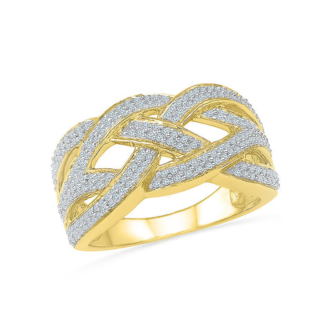 Captivating Diamond Knot Cocktail Ring - Radiant Bay