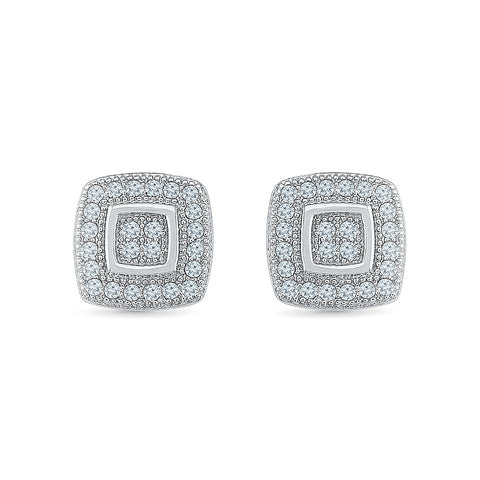 Buoyant Diamond Studs - Radiant Bay