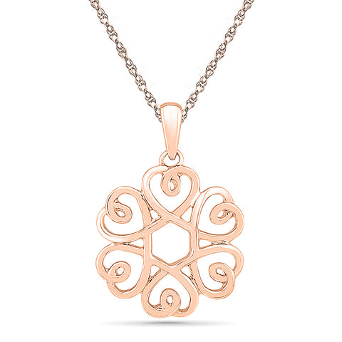 Charming Floral Gold Pendant