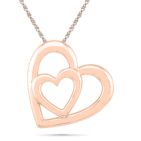Together Forever Heart Gold Pendant