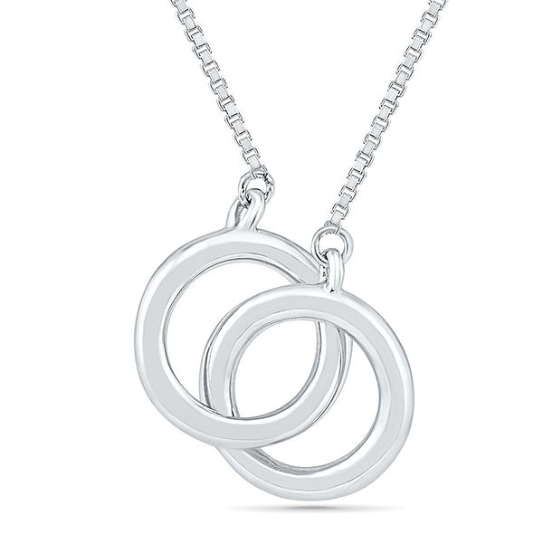 Entwined Circles Gold Necklace