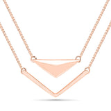 Multi-Layer V-shaped Gold Necklace