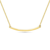 Curved Bar Gold Necklace