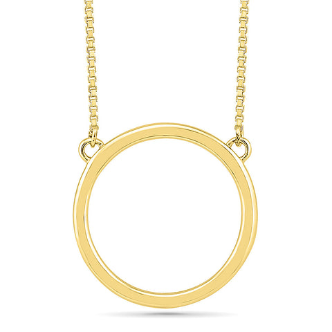 Circular Gold Necklace