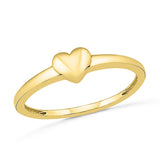 Subtle Heart Gold Ring