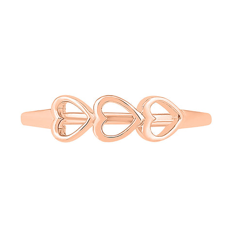 Triple Heart Gold Ring
