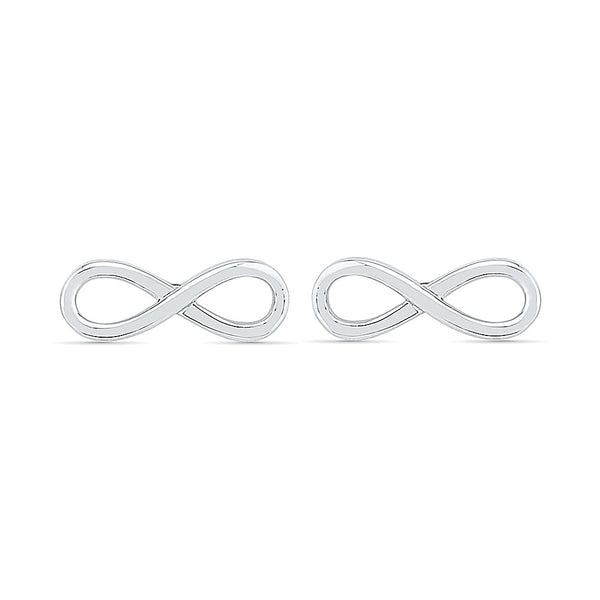 Horizontal Infinity Gold Earring