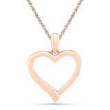 Sweet & Simple Heart Gold Pendant