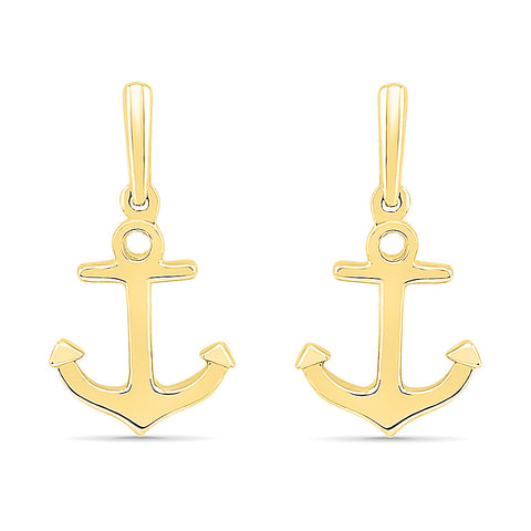 Anchor Gold Earring