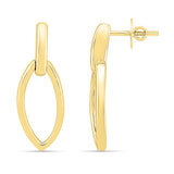 Marquise Shaped Gold Earring