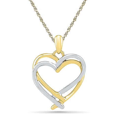2 Tone Heart Gold Pendant - Radiant Bay