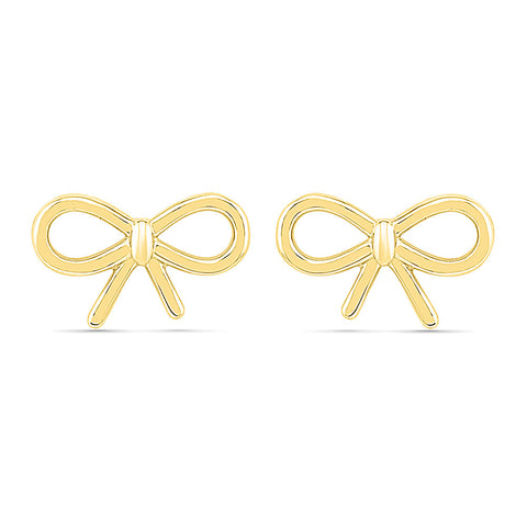 Bow-Knot Gold Earring