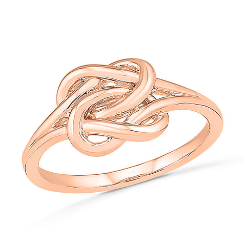 Interlinked Knot Gold Ring