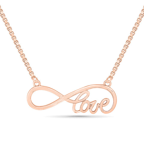 Infinity Love Gold Necklace