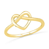 Heart Knot Gold Ring