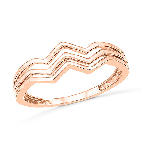 Wavy Fashion Gold Ring
