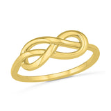 Infinity Swirl Gold Ring