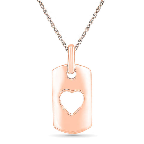 Enclosed Heart Gold Pendant