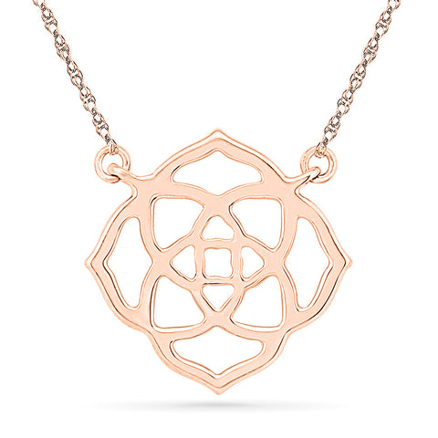 Lotus Inspired Gold Necklace