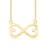 Dual Heart Infinity Gold Necklace