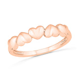 Cute Multiple Heart Gold Ring