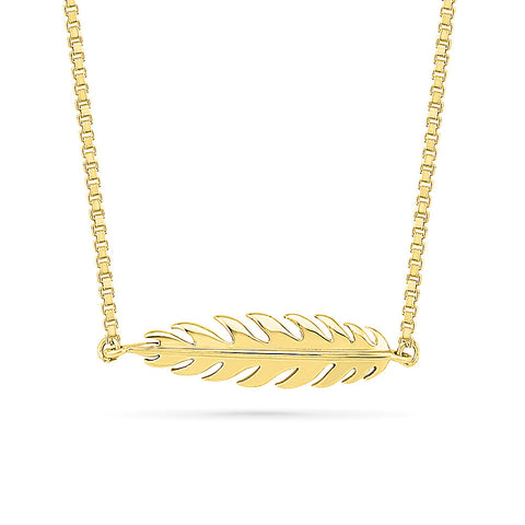 Glitzy Leaf Gold Necklace