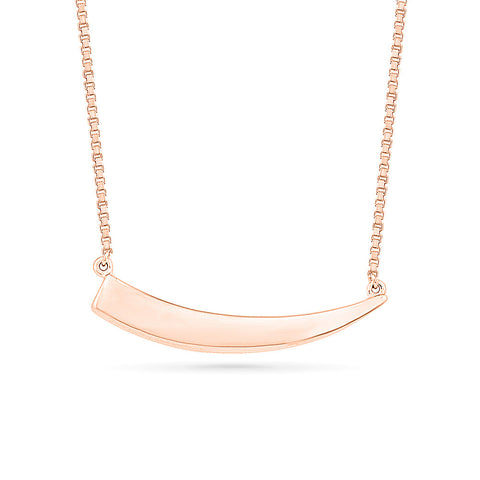 Trendy Curved Gold Necklace