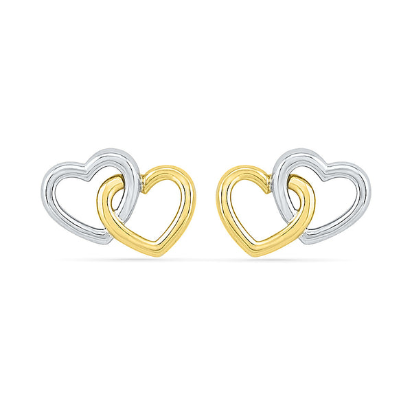 Inseperable Love Gold Earring