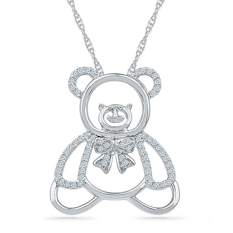 Childhood Memories Diamond Pendant in 92.5 Sterling Silver  for women online