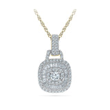 Square Deco Diamond Pendant