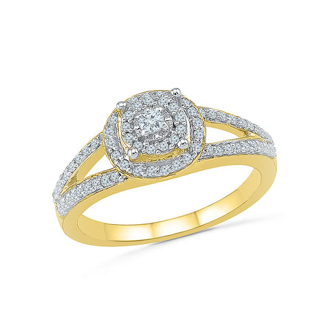 14kt / 18kt white and yellow gold Reminiscent Bloom Diamond Ring in PRONG for women online