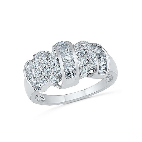 14kt / 18kt white and yellow gold Celeb Charm Diamond Cocktail Ring in Prong setting online for women
