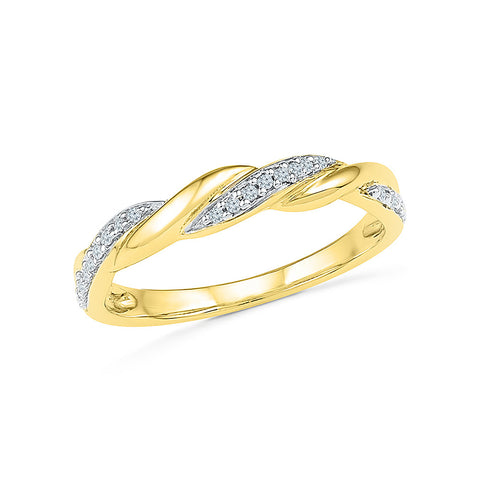 14kt / 18kt white and yellow gold The designer Rope Diamond Ring in PRONG for women online