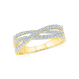 Interlaced Everyday Diamond Ring