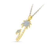 Twinkling Tree Diamond Pendant