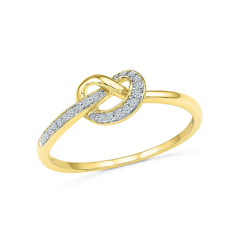 Best Friends Knot Diamond Ring - Radiant Bay