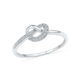 14kt / 18kt white and yellow gold attractie best friend knot  in PRONG for women online